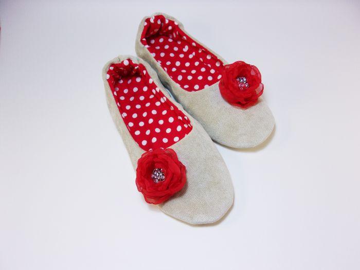 8722a7684 Домашние балетки - тапочки ручной работы купить, цена: 1300.00 руб ...